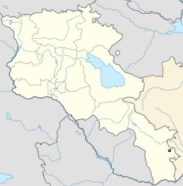 Վանանդ բնակավայրի դիրքը քարտեզի վրա